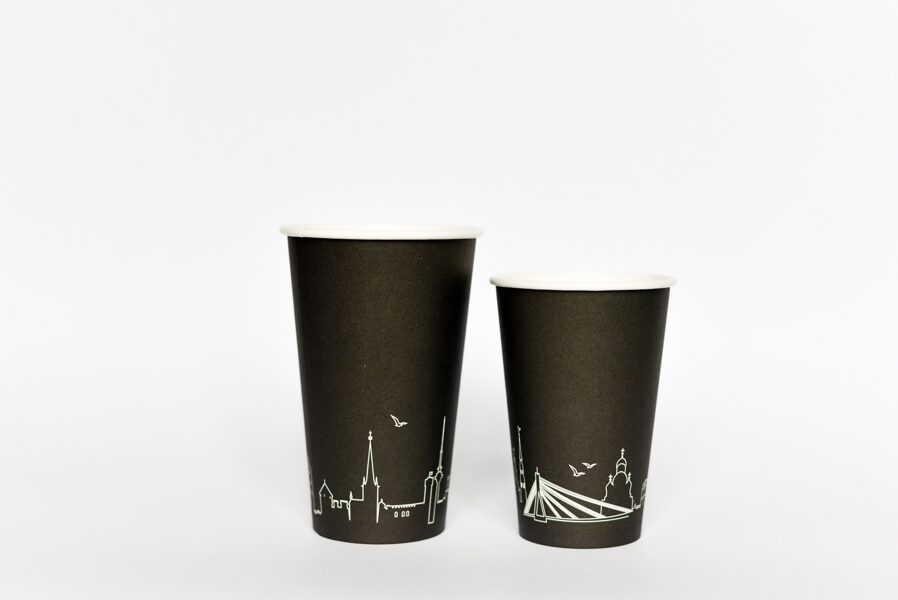 PLA single wall paper cups