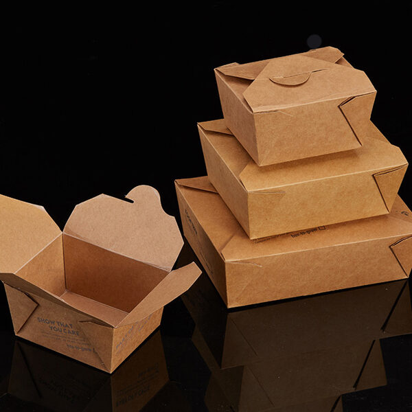 Karstā ēdiena PLA papīra kārba